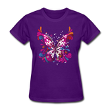 Abstract Pink Butterfly - Women's - purple