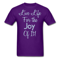 Live Life Joy - #2 - Unisex - purple
