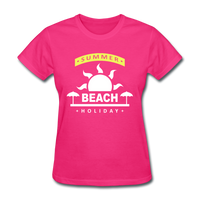 Summer Beach Holiday Design #4 - Women's Tee - fuchsia