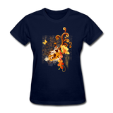Swirls with Butterfly - Women's - navy