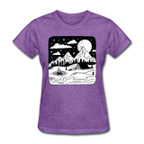 Peaceful Campsite - Women's - purple heather