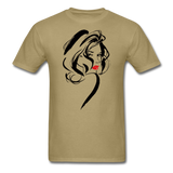 Woman with Red Lips - Men's - khaki