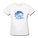 Palm Tees with Sky - Women's Tee - white
