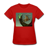 Elf on a Dragon - Women's - red