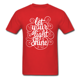 Let Your Light Shine - Men's - red