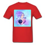 Capricorn Lady on Blue - Unisex - red