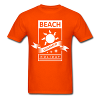 Beach Summer Holiday Design #2 - Men's Tee - orange