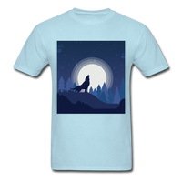 Wolf Howling at the Moon 2 - powder blue