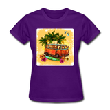 VW Bus Surfing - Women's - purple