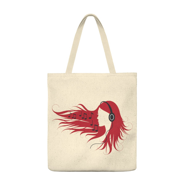 Lady with Headphones - Tote