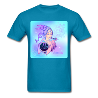 Capricorn Lady on Blue - Unisex - turquoise
