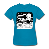 Peaceful Campsite - Women's - turquoise
