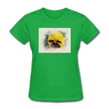 Yellow Pansy Watercolor - Women's - bright green