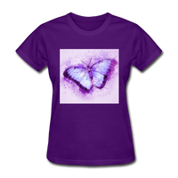 Purple and Blue Sketch Butterfly - Women's - purple