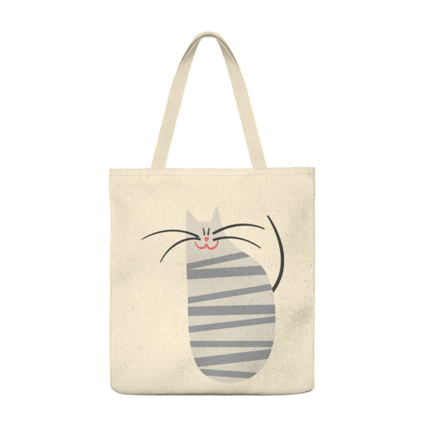 Happy Cat with Stripes - Tote