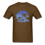 Palm Trees with Sky - Men's Tee - brown