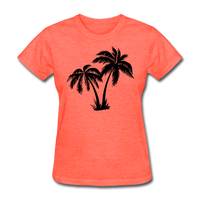 Palm Trees Silhouette - Women's Tee - heather coral