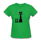 Black Cat Family - Women's - bright green