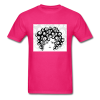 Woman with  Curly Hair - Men's - fuchsia
