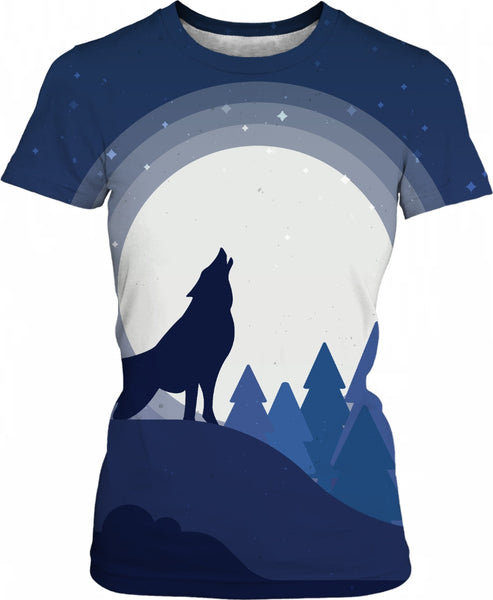 Wolf Howling to the Moon - Women's AllOver