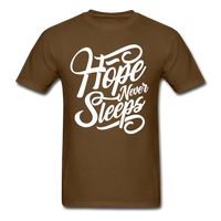 Hope Never Sleep - brown