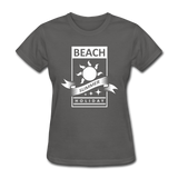 Beach Summer Holiday Design #2 - Women's Tee - charcoal