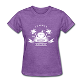 Summer Beach Holiday - Women's Tee - purple heather