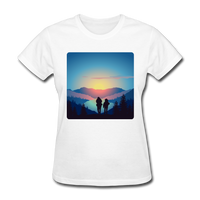 Backpackers at Sunset - Women's - white