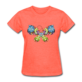 Patterned Butterfly - Women's - heather coral