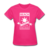 Beach Summer Holiday Design #2 - Women's Tee - fuchsia