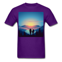 Backpackers at Sunset - Unisex - purple