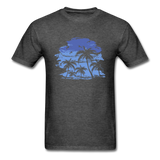 Palm Trees with Sky - Men's Tee - heather black