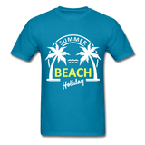 Summer Beach Holiday Design #3 - Men's Tee - turquoise