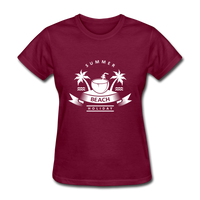Summer Beach Holiday - Women's Tee - burgundy