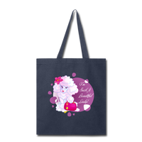 Beautiful Lady Poodle - Tote - navy