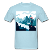Lady in Pink Hiking - Unisex - powder blue
