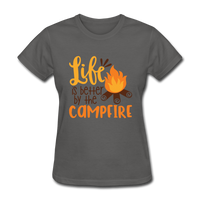Life is Better Campfire - Women's - charcoal