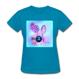 Gemini Lady on Blue - Women's - turquoise