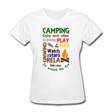 Camping Enjoy Each Other - Women's - white