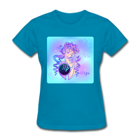 Virgo Lady on Blue - Women's - turquoise