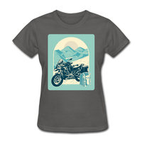 Motorcycle in the Mountains - Women's - charcoal