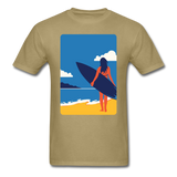 Lady with Surf Board - Unisex - khaki