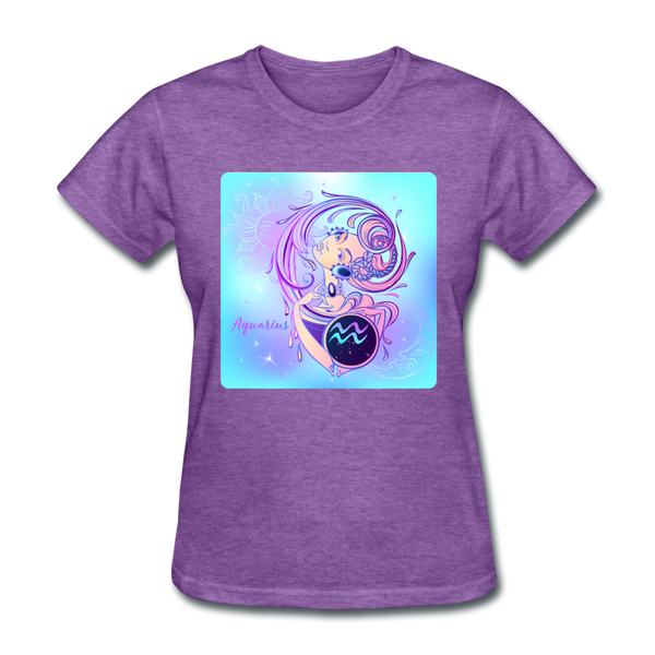 Aquarius Lady on Blue - Women's - purple heather