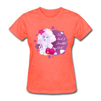 Beautiful Lady Poodle - Women's - heather coral