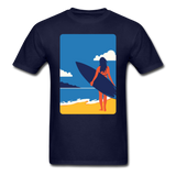 Lady with Surf Board - Unisex - navy