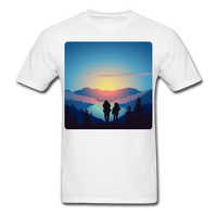 Backpackers at Sunset - Unisex - white