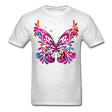 Abstract Butterfly - light heather grey