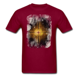 Brown and White Fractal - Unisex - burgundy