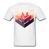 Geometric Hiking Pose - Men's - white