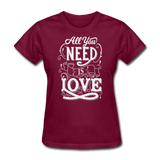 All You Need is Love - Women's - burgundy